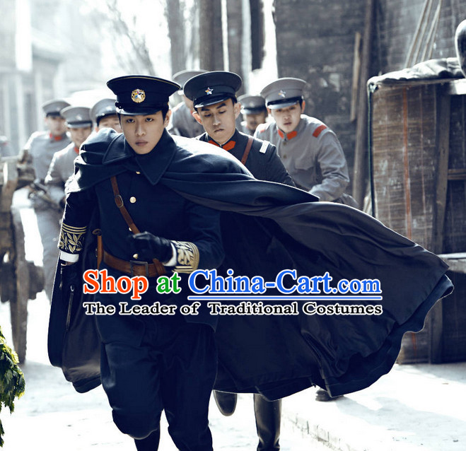 Chinese Minguo Policeman Costumes for Men