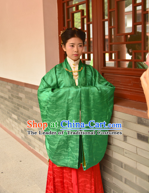 Chinese Green Ming Han Fu Costumes Dresses online Designer Halloween Costume Wedding Gowns Dance Costumes Superhero Costumes Cosplay for Women