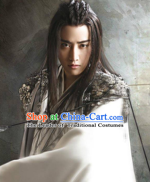 Chinese Ancient Superhero Black Wigs