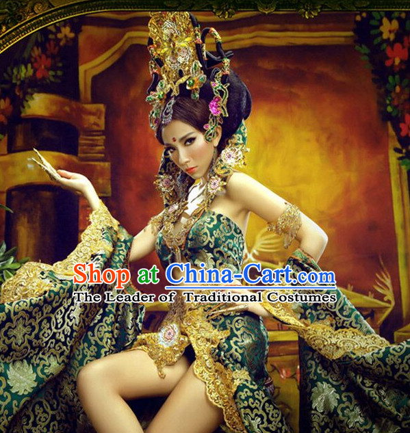 Chinese Ancient Sexy Dance Costumes online Designer Halloween Costume Wedding Gowns Dance Costumes Cosplay