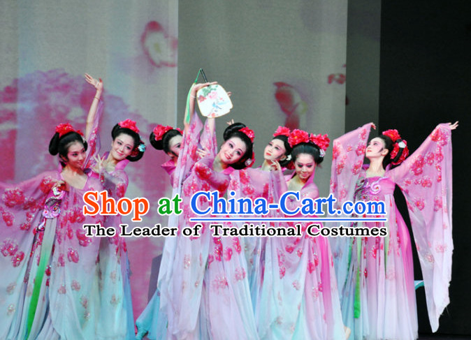 Ancient Chinese Fan Dance Costumes