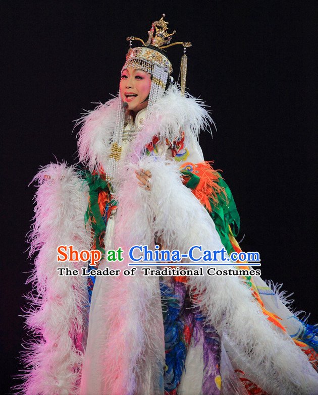 Ancient Chinese Palace Stage Queen Dance Costumes