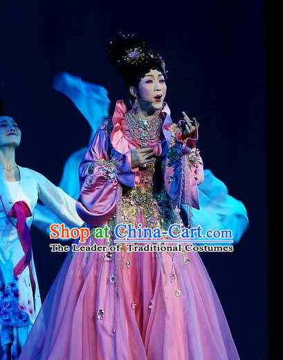 Ancient Chinese Palace Queen Stage Dance Costumes