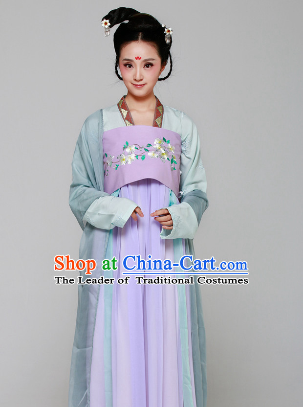 Chinese Ancient Princess Halloween Costume and Hair Jewelry for Women