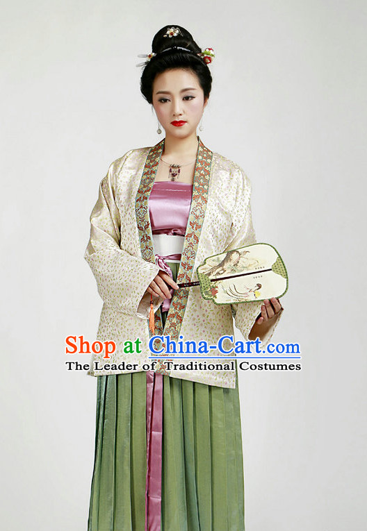 Chinese Ancient Female Halloween Costumes and Hair Jewelry for Women