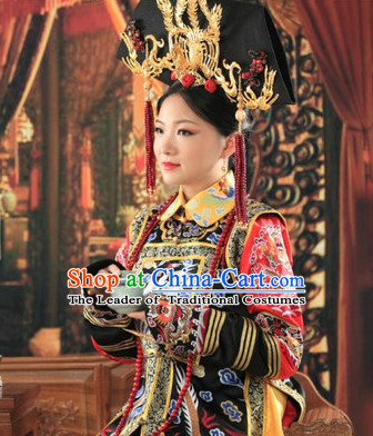Asian Chinese Qing Empress Halloween Costume Cosplay Costumes Superhero Costumes Complete Set