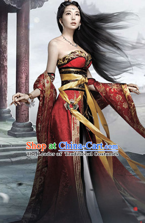 Asian Chinese Ancient Sexy Beauty Halloween Costume Cosplay Costumes Complete Set