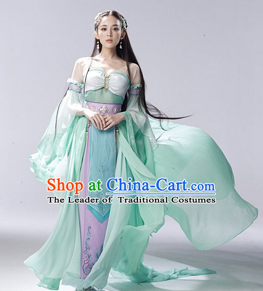 Asia Chinese Fairy Halloween Costumes Cosplay Costume and Hair Accessories Complete Set
