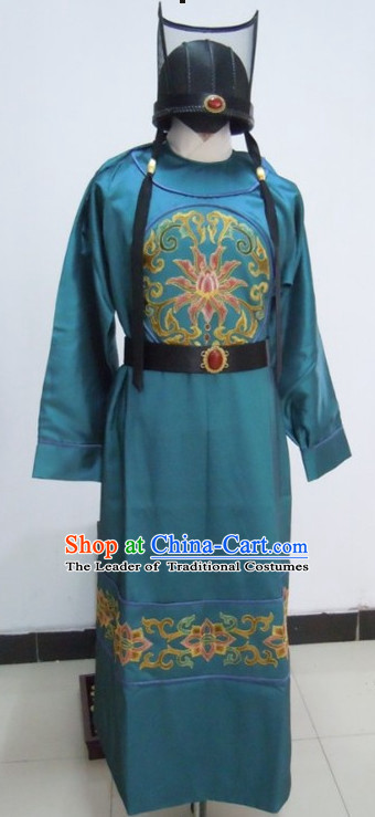 Asian Chinese Ming Dynasty Detective Halloween Costumes Cosplay Costume and Hat Complete Set