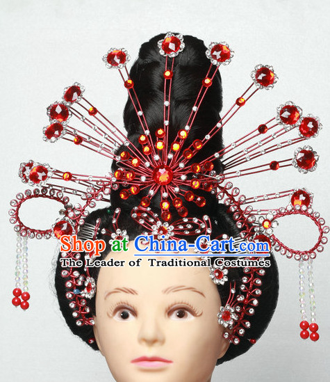 Asia China Opera Princess Phoenix Hair Jewelry Set