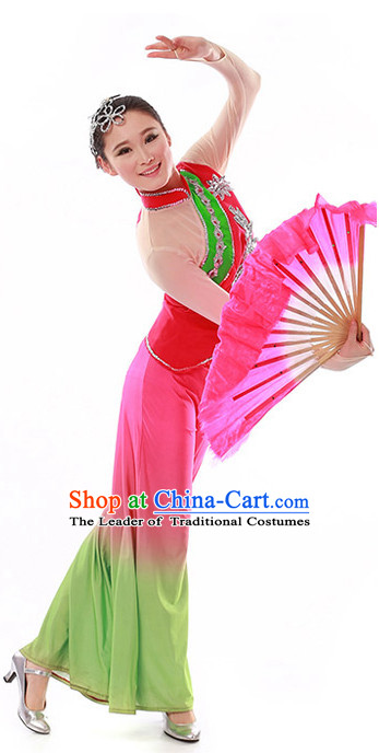 Chinese Fan Dance Costume Wholesale Clothing Discount Dance Costumes Dancewear Supply