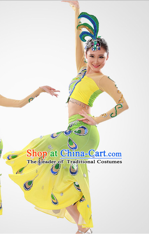Chinese Peacock Dance Costume Wholesale Clothing Discount Dance Costumes Dancewear Supply