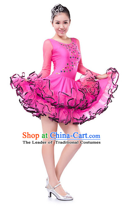 Chinese Modern Group Dance Costume Wholesale Clothing Discount Dance Costumes Dancewear Supply and Hat for Girls