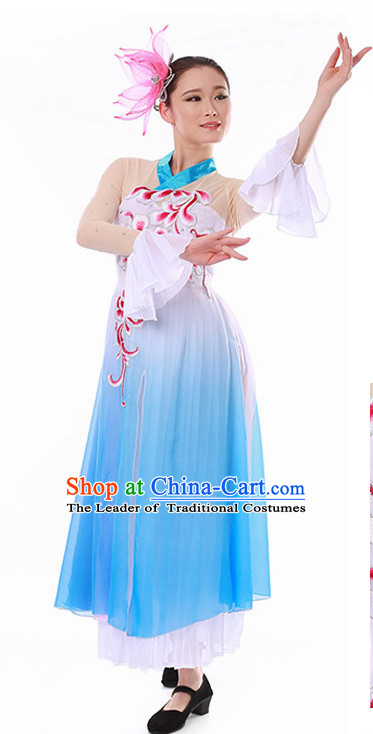 Chinese Plum Blossom Classical Dance Costume Wholesale Clothing Discount Dance Costumes Dancewear Supply and Headpieces for Girls