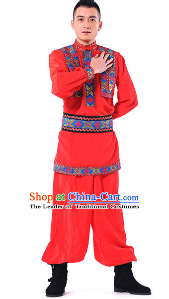 Chinese Xinjiang Folk Dance Costume Wholesale Clothing Discount Dance Costumes Dancewear Supply and Headpieces for Men