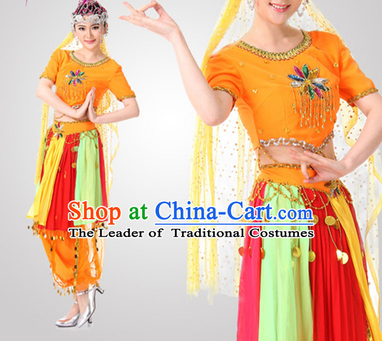 Indian Dance Costume Wholesale Clothing Discount Dance Costumes Dancewear Supply and Headpieces for Girls
