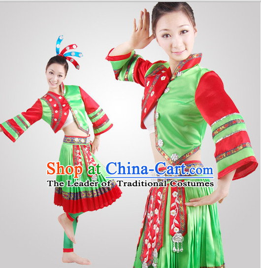 Chinese Folk Minority Dance Costume Wholesale Clothing Discount Dance Costumes Dancewear Supply for Women