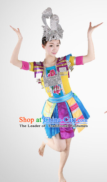 Chinese Folk Miao Dance Costume Wholesale Clothing Discount Dance Costumes Dancewear Supply for Women