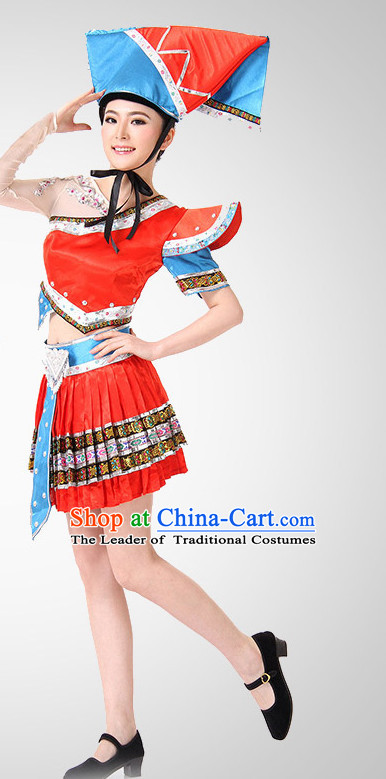 Chinese Folk Minoirty Dance Costume Wholesale Clothing Discount Dance Costumes Dancewear Supply for Women