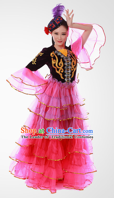 Chinese Folk Fan Dance Costume Wholesale Clothing Group Dance Costumes Dancewear Supply for Women