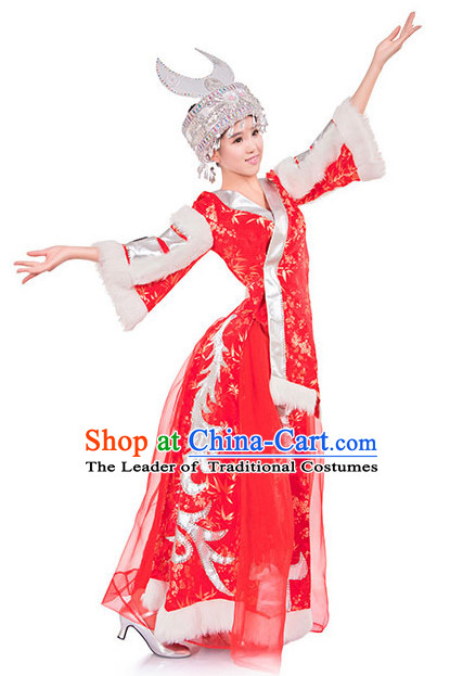 Chinese Folk Miao Clothes Costume Wholesale Clothing Group Dance Costumes Dancewear Supply for Women