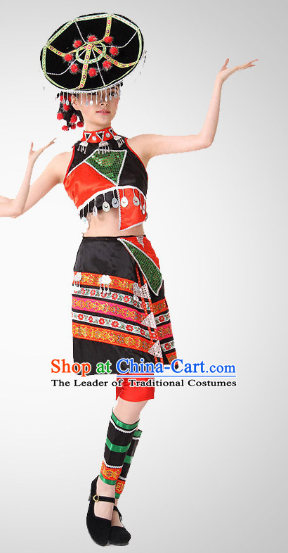 Chinese Folk Clothing Costume Wholesale Clothing Group Dance Costumes Dancewear Supply for Women