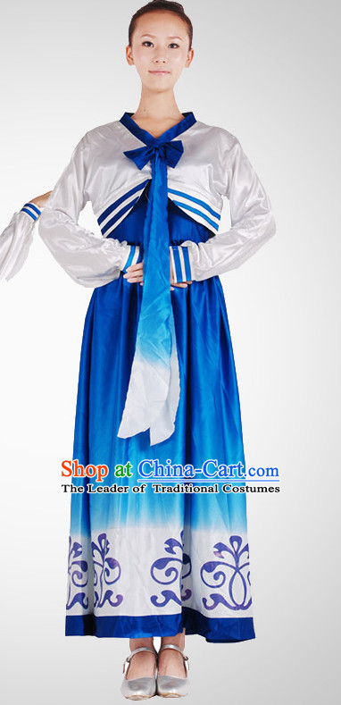 Chinese Folk Korean Dancing Clothes Costume Wholesale Clothing Group Dance Costumes Dancewear Supply for Women