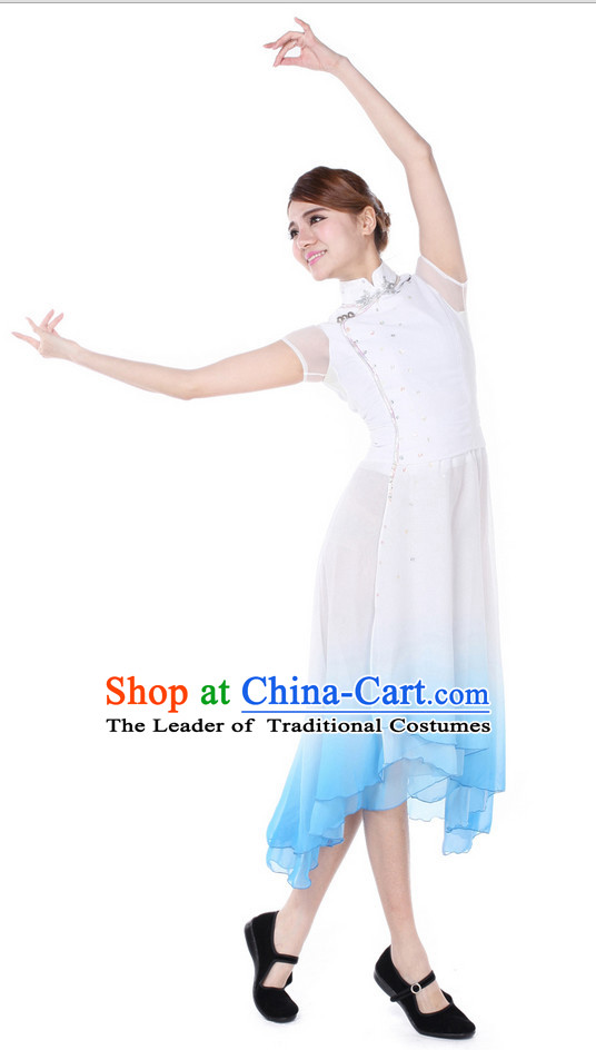 Chinese Fan Dance Costume Wholesale Clothing Group Dance Costumes Dancewear Supply for Girls