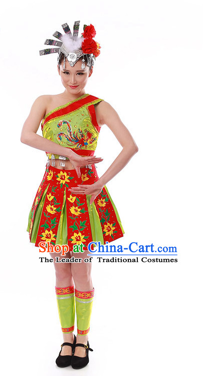 Chinese Folk Miao Dance Costume Wholesale Clothing Group Dance Costumes Dancewear Supply for Woman