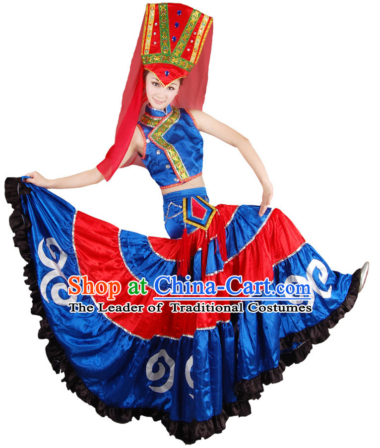 Chinese Folk Dance Costume Wholesale Clothing Group Dance Costumes Dancewear Supply for Women