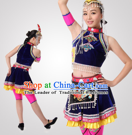 Chinese Folk Dancing Clothes Costume Wholesale Clothing Group Dance Costumes Dancewear Supply for Women