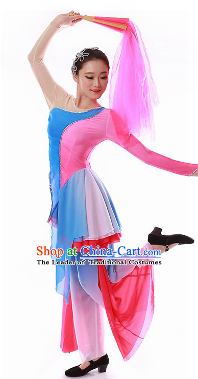 Chinese Fan Ethnic Clothes Costume Wholesale Clothing Group Dance Costumes Dancewear Supply for Girls