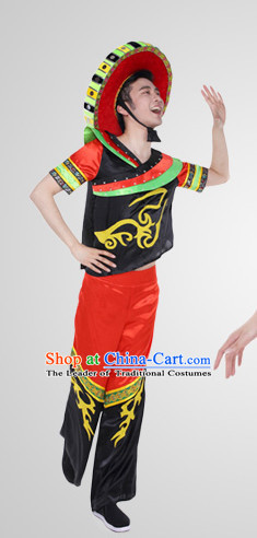 Chinese Folk Ethnic Clothes Costume Wholesale Clothing Group Dance Costumes Dancewear Supply for Girls