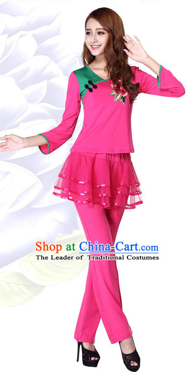 Pink Chinese Festival Parade and Stage Dance Costume Wholesale Clothing Group Dance Costumes Dancewear Supply for Women
