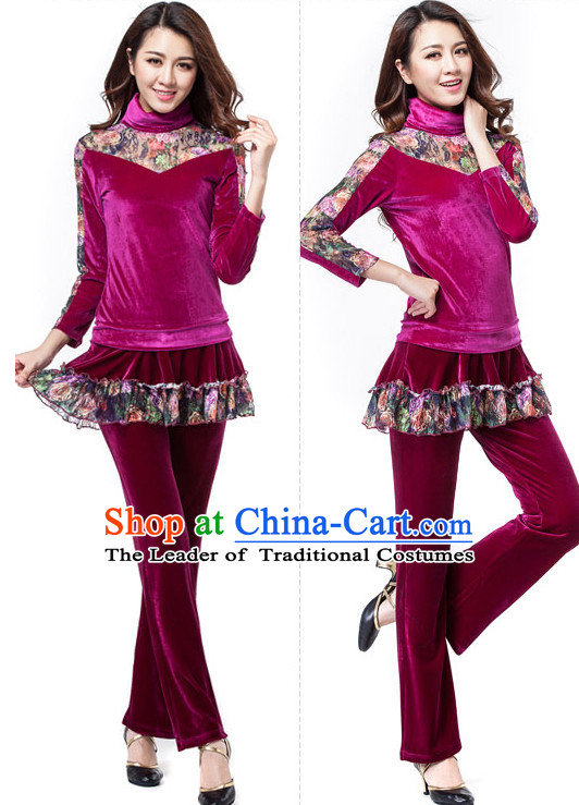 Asia Chinese Festival Parade Folk Dance Costume Wholesale Clothing Group Dance Costumes Dancewear Supply for Women