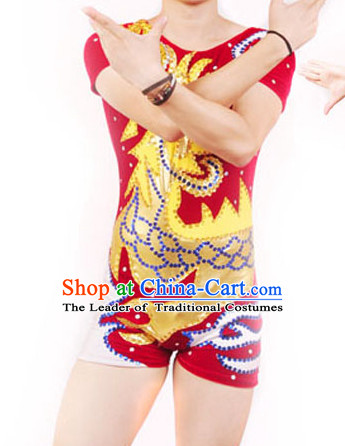 Asia Chinese Festival Parade Folk Dance Costume Wholesale Clothing Group Dance Costumes Dancewear Supply for Men