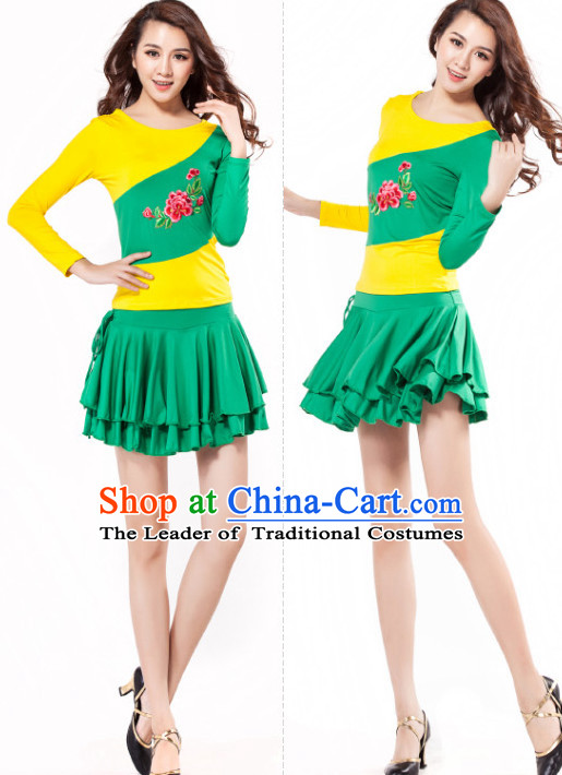 Asia Chinese Festival Parade Folk Stage Dance Costume and Headpieces for Women