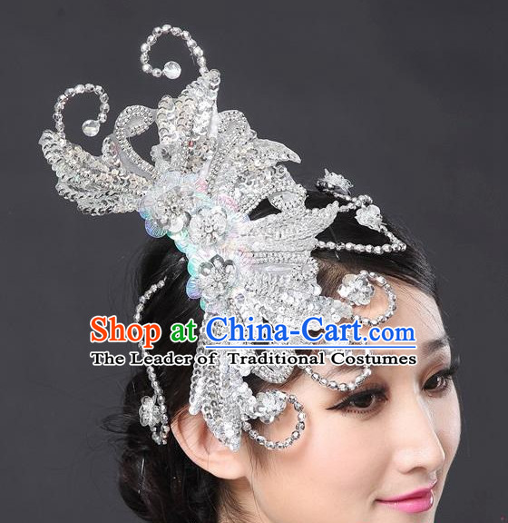 Chinese Classical Stage Dance Headpieces for Women