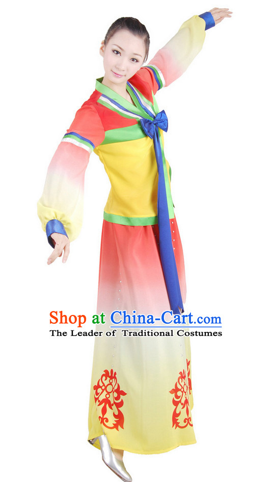 Chinese Folk Minority Dance Costume Wholesale Clothing Group Dance Costumes Dancewear Supply for Women