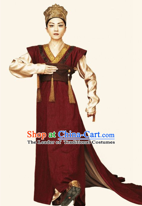 Chinese Shang Dynasty Wu Ding Emperor Costumes Chinese King Costume