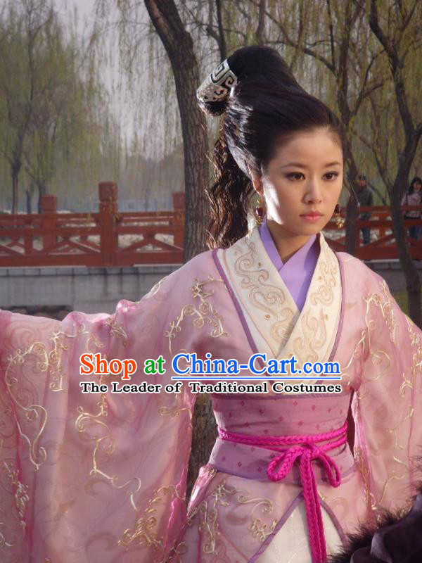 Shang Dynasty Chinese Myth Daji Su Da Ji Fox Spirit Demon Enchantress Fox Queen Costumes China Costume