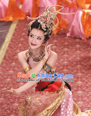 Chinese Myth Daji Su Da Ji Fox Spirit Demon Enchantress Fox Queen Costumes Chinese Costume and Hair Accessories Complete Set