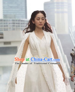 New Stone Age Costume Ancient Chinese Style Xia Dynasty Nv Wa Costumes Mythology Legend Goddess Complete Set