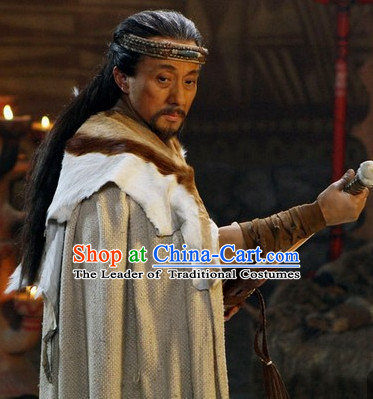 Ancient Yan Emperor Chinese National Identity Origin Descendants Shennong Yandi Costumes Complete Set