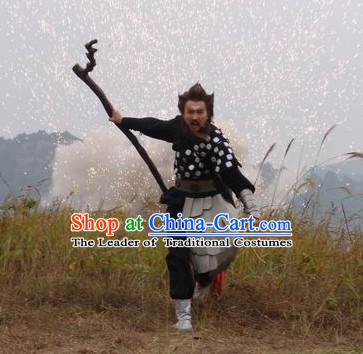 New Stone Age Xia Dynasty Houyi Mythological Chinese Archer Costumes Complete Set