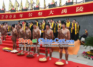 Xia Dynasty Men Clothing Chinese New Stone Age Costume