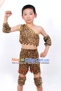 New Stone Age Xia Dynasty Costume for Kid Boys