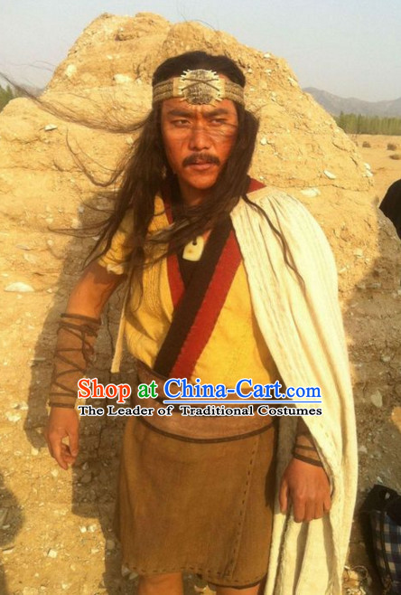Kua Fu New Stone Age People Men Costumes of Xia Dynasty