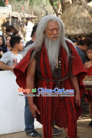 Xia Dynasty Old Men Costume