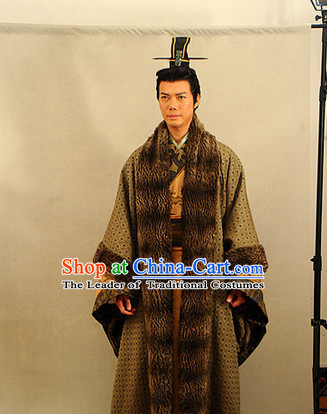 China Eastern Zhou Dynasty Sun Tzu Sun Wu Chinese Military Strategist Costume Complete Set for Men